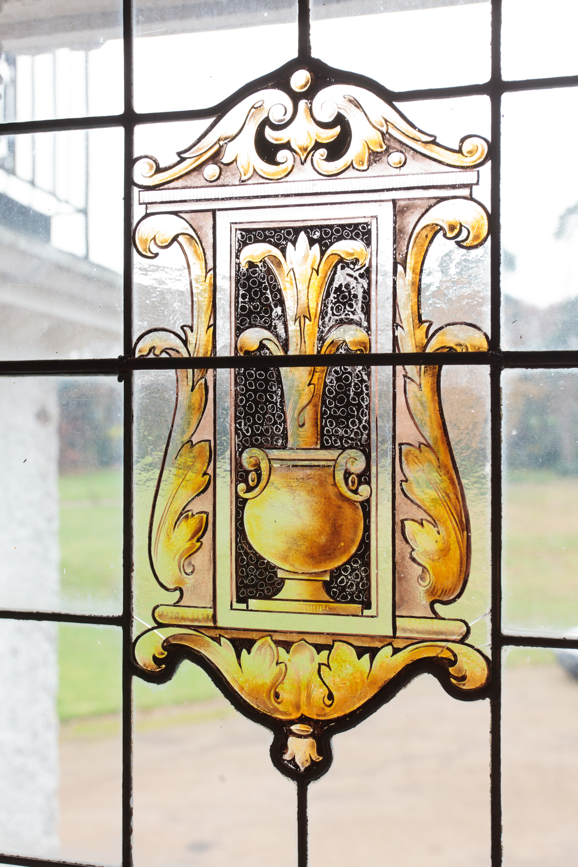 stained glass at Merrieweathers Country House